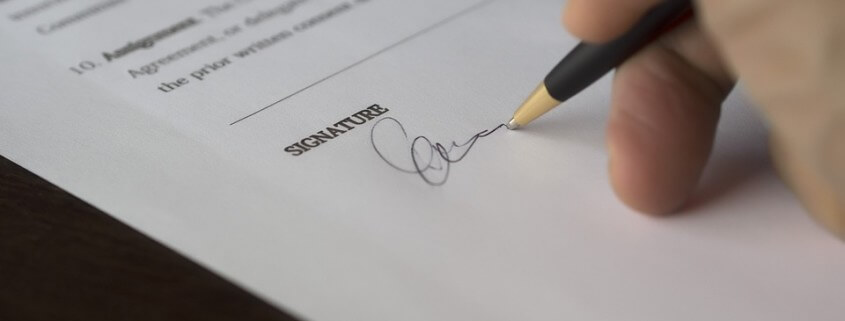 Contract Deal Business Document Signature